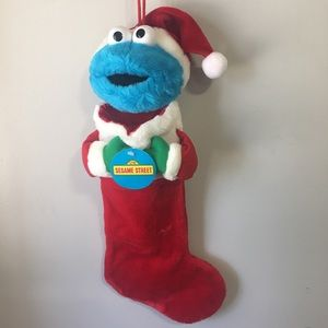 Sesame Street Muppets Cookie Monster Stocking NWT